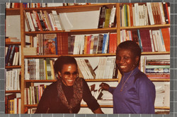 27 Jessica Huntley in the Bookshop. c1980s. Huntley Archives at London Metropolitan Archives