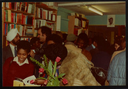 19 Valerie Bloom (talking with audience members). Huntley Archives at London Metropolitan Archives_A
