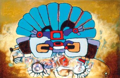 Aubrey Williams, Quetzalcoatl III (Olmec Maya and Now series) 1984, oil on canvas. Courtesy October Gallery and Aubrey Williams estate. copy.jpg