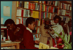 05 L to R - Ann Duncan, Valerie Bloom _ Imruh Bakari. Huntley Archives at London Metropolitan Archiv