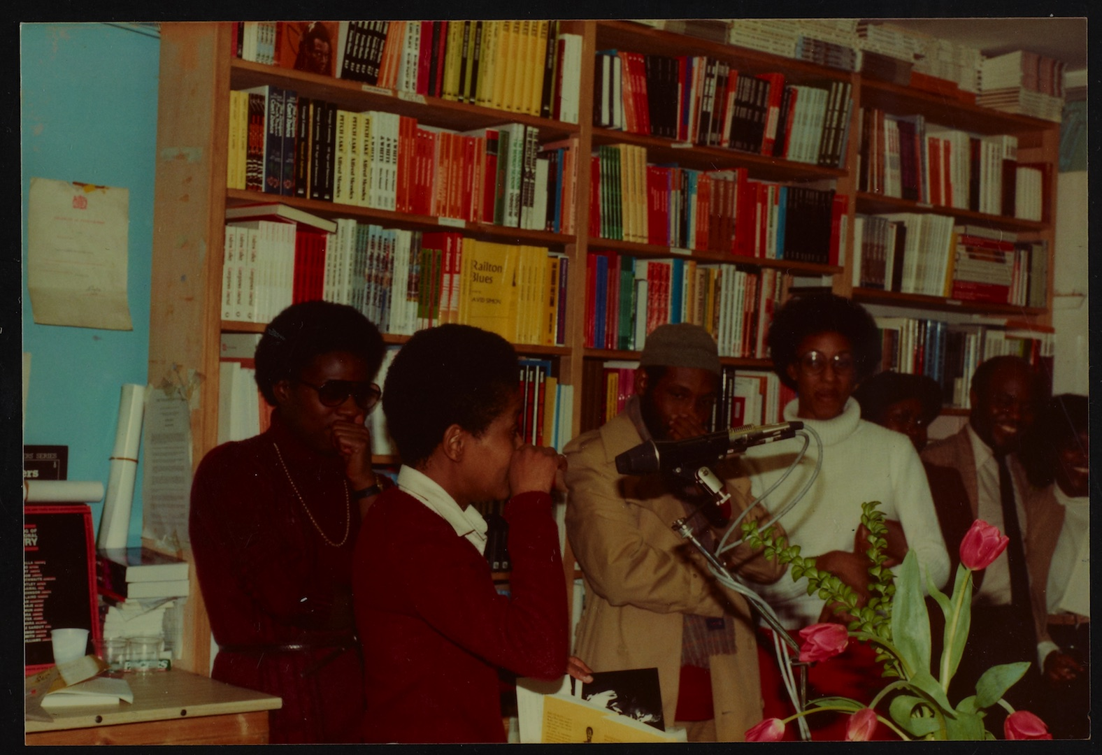 09 L to R - Ann Duncan, Valerie Bloom (performing) _ Imruh Bakari. Huntley Archives at London Metrop