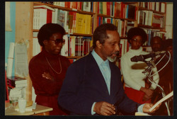 02 L to R - Ann Duncan _ Eric Huntley (speaking). Huntley Archives at London Metropolitan Archives_A