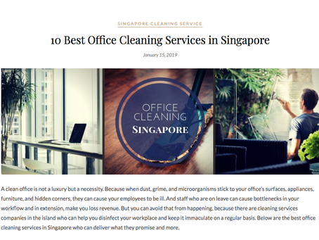 10 Best Office Cleaning Services & 18 Best House Cleaning Service in Singapore