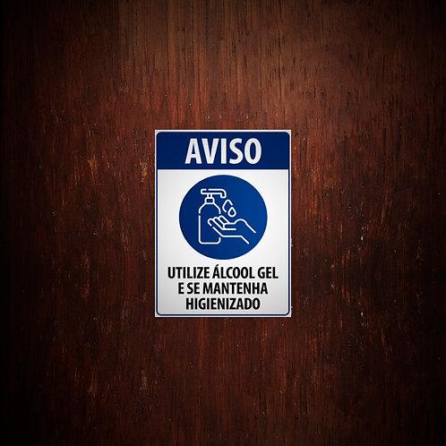 Adesivo Utilize álcool gel - 5 unidades (A5)
