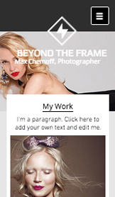 Mode och accessoarer website templates – Fotostudio mode