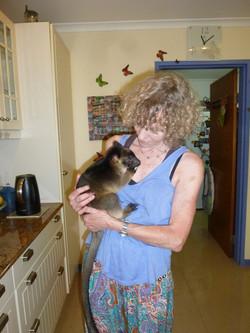 Margit with baby tree kangaroo