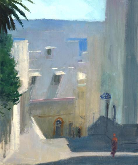 Midi à Tanger, huile sur toile, 65x54cm