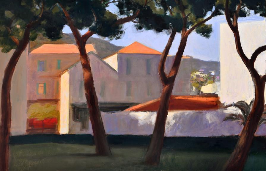 Les âmes du Lavandou, huile sur toile, 92x60cm