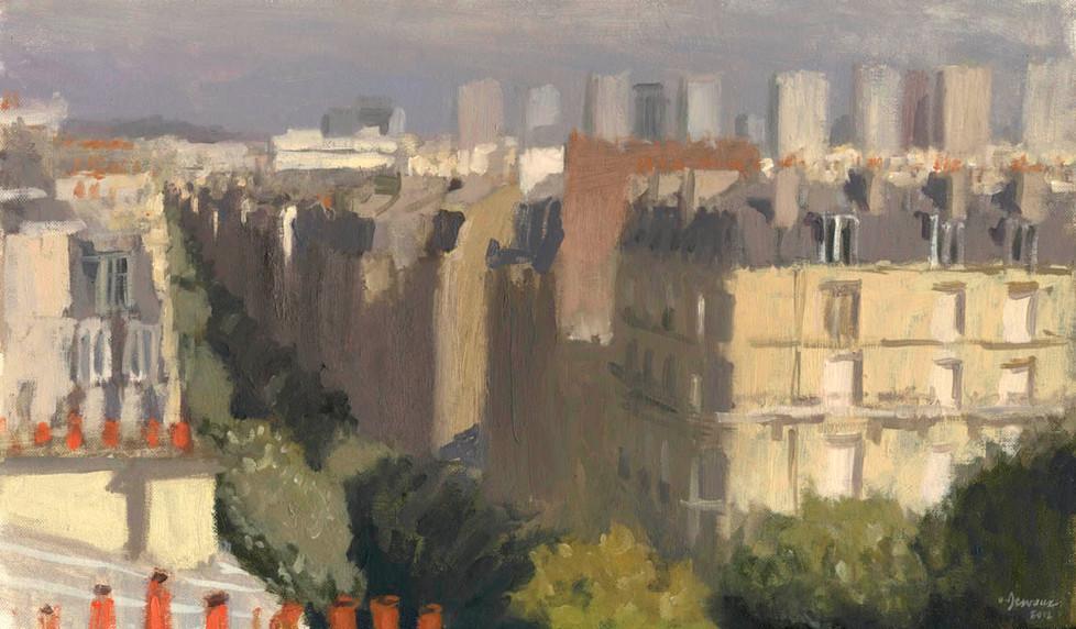 La rue Convention, huile sur toile, 46x33cm