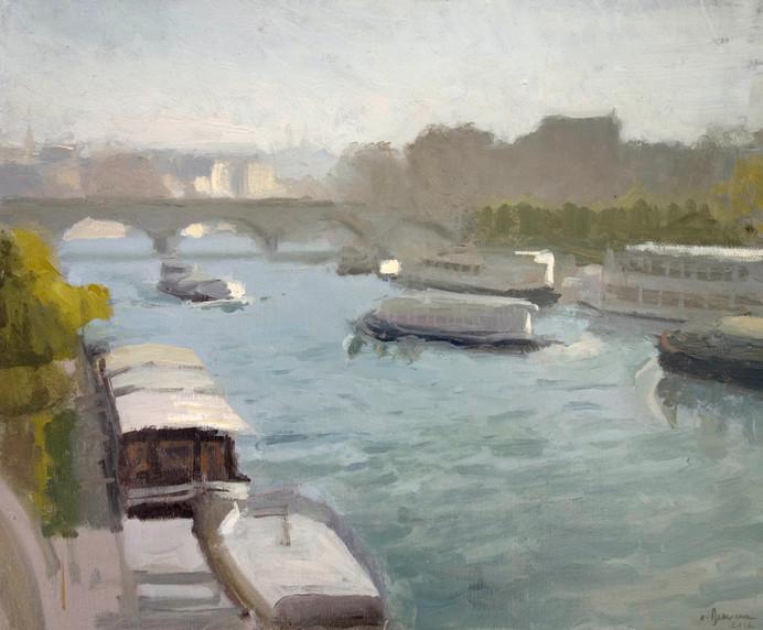 Le pont d'Iena, huile sur toile, 46x38cm