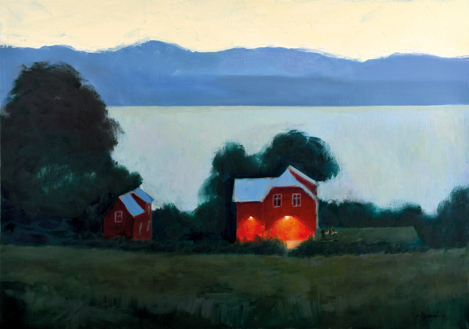 La nuit des fjords, huile sur toile, 92x65cm, 2019