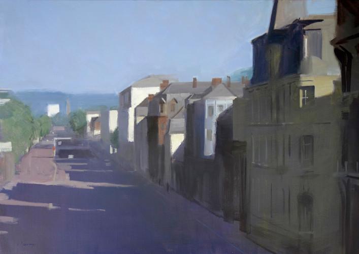 les quais du Havre, huile sur toile, 81x65cm