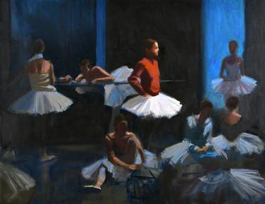 Le songe de la danseuse, huile sur toile, 65x50cm