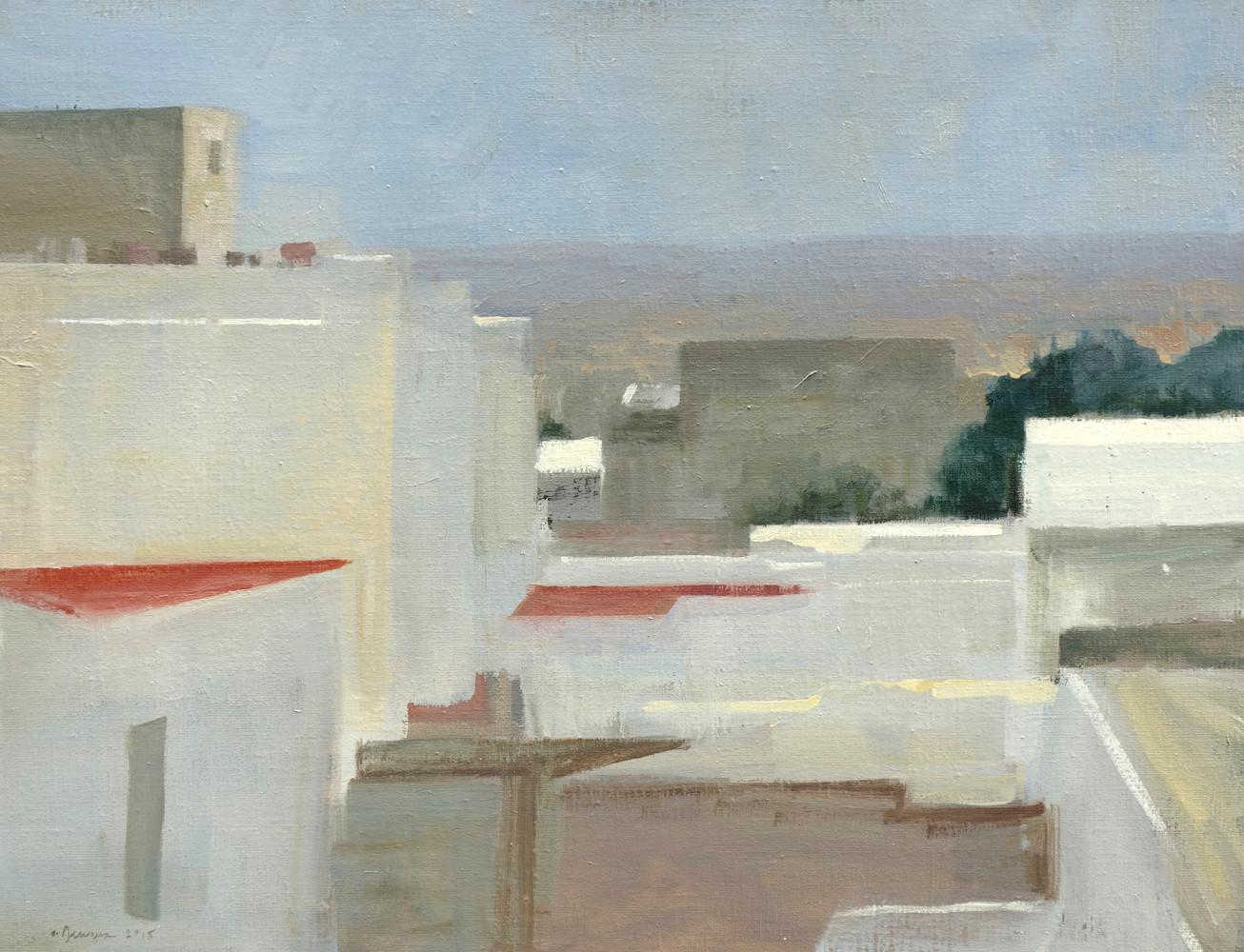 Tétouan - Déjeuner sur la terrasse, huile sur toile, 65x50cm