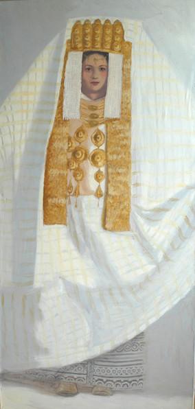 Mariée marocaine I, huile sur toile, 160x75cm, 2009