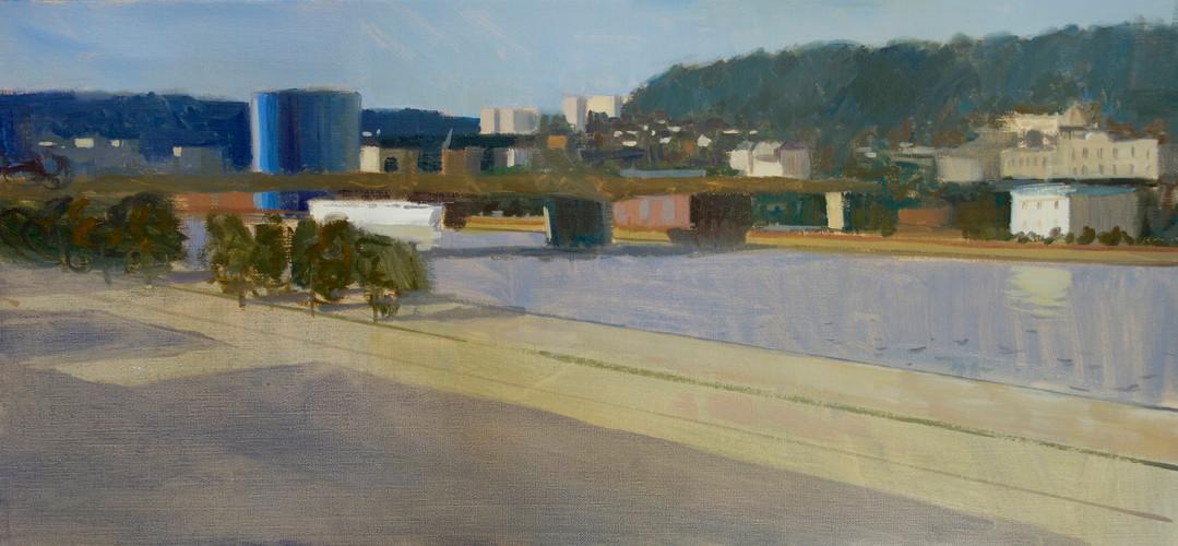 Panorama XXL, huile sur toile, 75x35cm