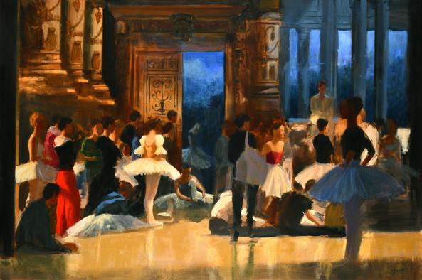 L'attente du Prince, huile sur toile, 195x130cm
