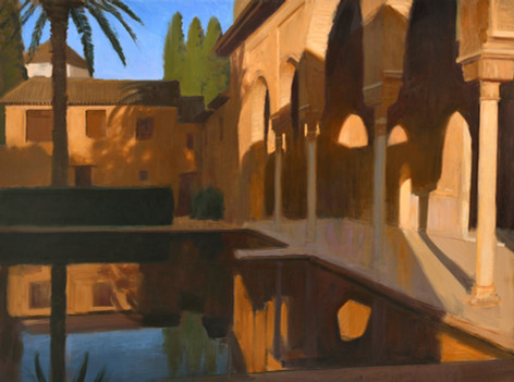 El partal de Granada, huile sur toile, 130x97cm