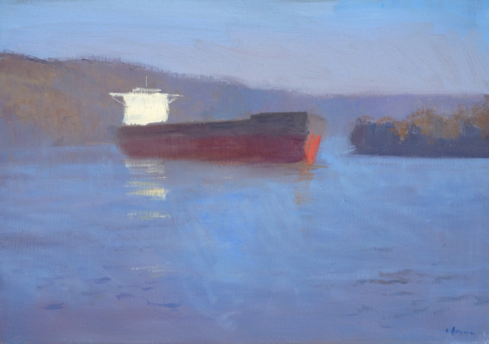 Après l'estuaire, huile sur toile, 65x54cm