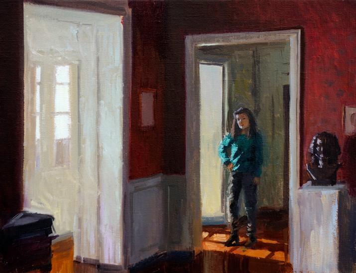 Sophie Fourny-Dargère, huile sur toile, 35x27cm, 2016