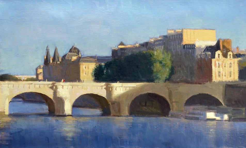 Le pont neuf, huile sur toile, 61x38cm