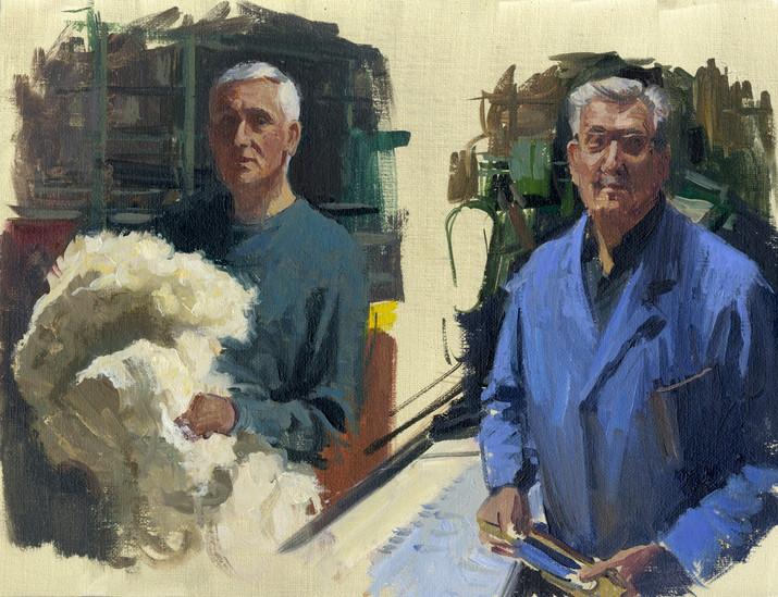 Musée textile Daniel et René, huile sur toile, 35x27cm, 2016