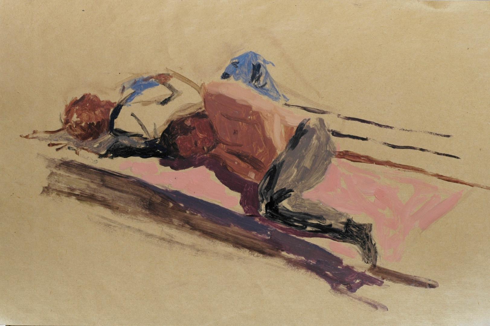 Les ivrogneshuile sur papier, 30x40cm, 2010
