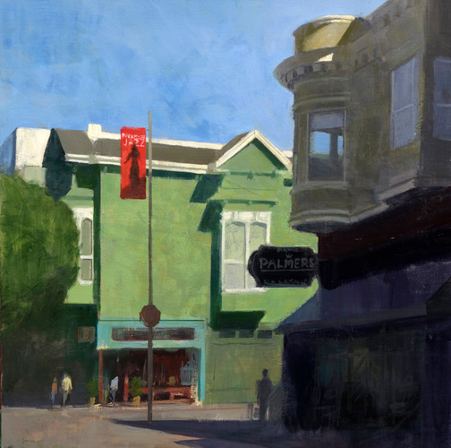 Fillmore jazz,, huile sur toile, 100x100cm, 2015