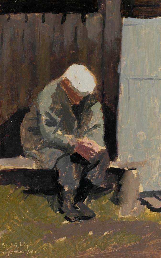 Le vieillardhuile sur papier, 30x40cm, 2010