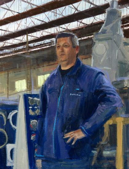 Patrick Gueudry, huile sur toile, 35x27cm, 2016