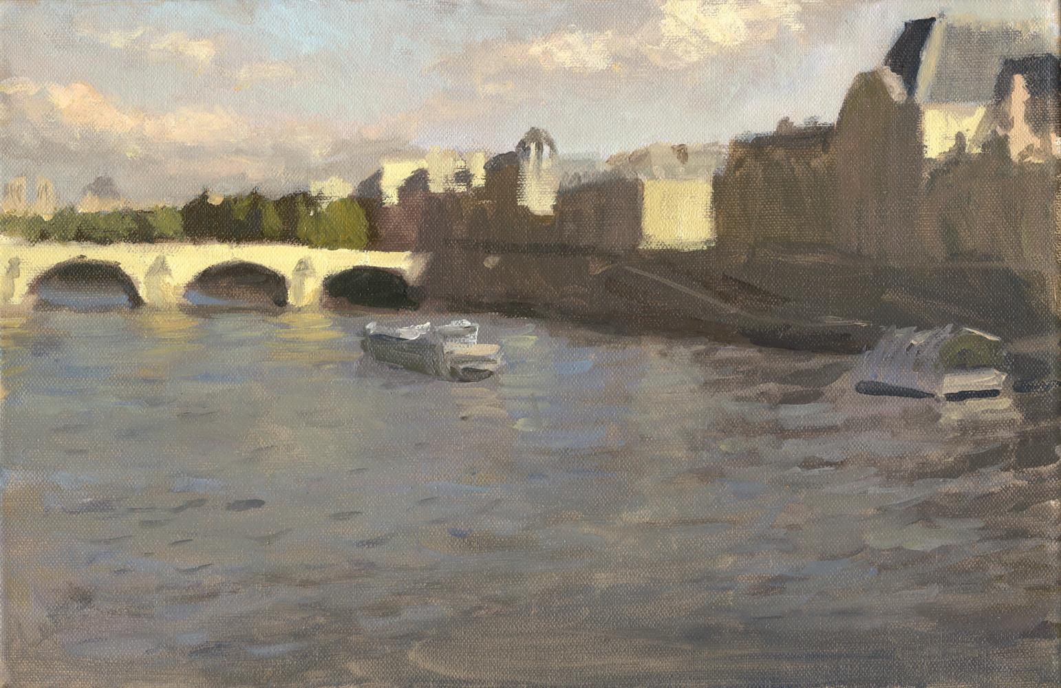Orsay, huile sur toile, 35x27cm