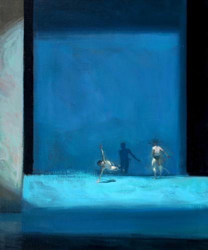 L'Anatomie de la sensation – bleu, huile sur toile, 73cm x 60cm, 2015