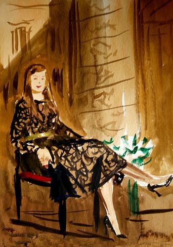 Portrait pour Boucheron, gouache sur papier, 27x22cm, 2014