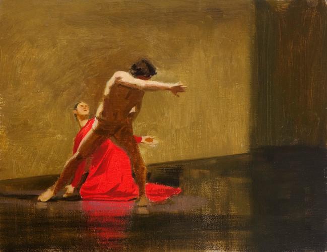 Orphée et Eurydice - le geste, huile sur toile, 35x27cm, 2015