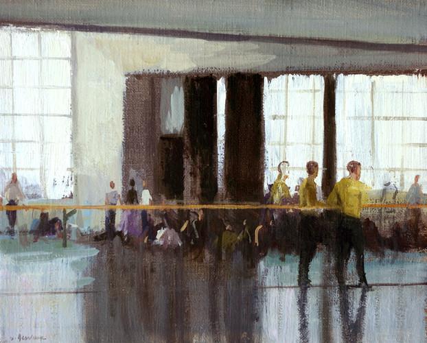 Studio Balanchine – le danseur, huile sur toile, 27cm x 22cm, 2015
