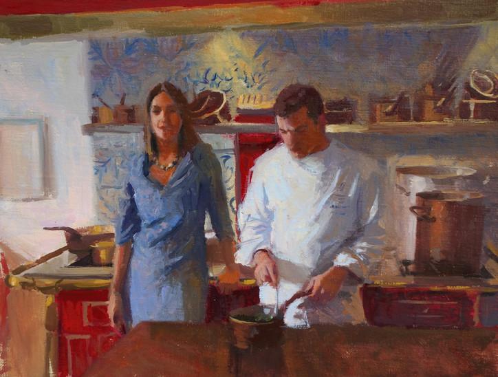 Sandrine et David Görne, huile sur toile, 35x27cm, 2016