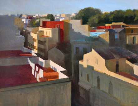 L'aube de Tanger, huile sur toile, 146x114cm