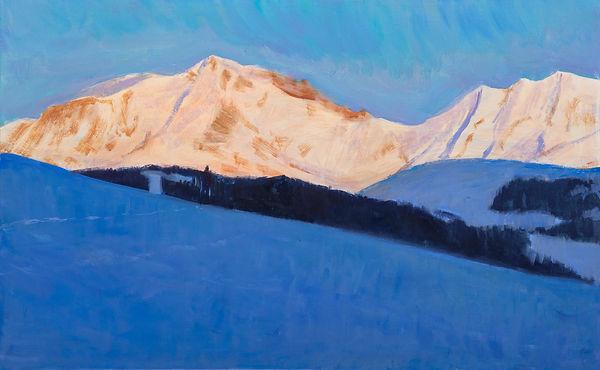 les dernières lumières du Mont Blanc 61x