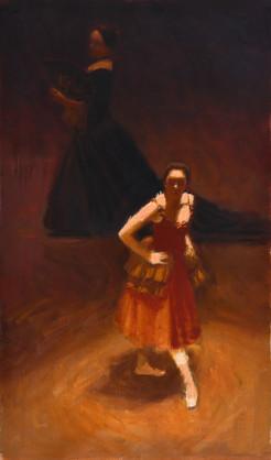L'ombre et la lumière, huile sur toile, 55x33cm