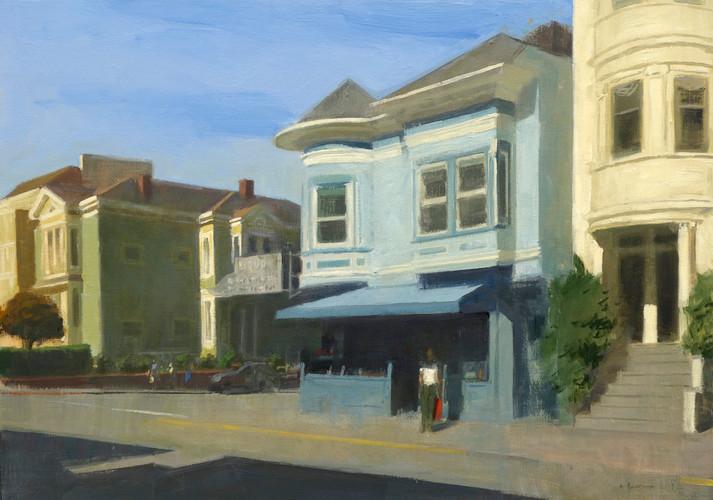 Blue shop in San Francisco, huile sur toile, 92x65cm, 2015