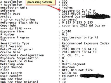Using the ExifTool Program