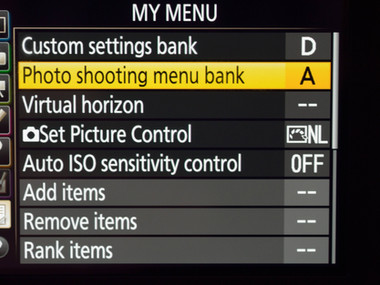 Nikon Custom Settings Banks versus Photo Shooting Banks