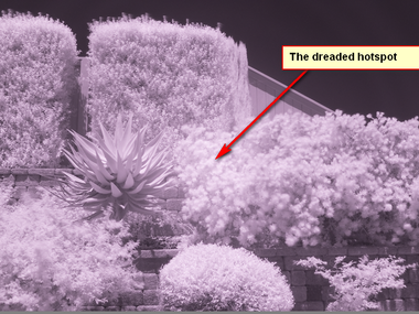 Fix that Lens Infrared Hotspot with LightRoom