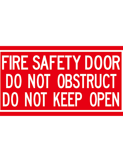 fire door signage RED