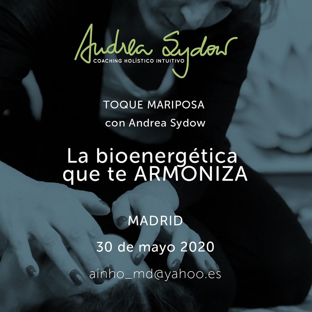 Si buscas una manera suave de armonizarte profundamente, de reducir tu ansiedad y quieres conocerte mejor aún a nivel profundo y amoroso no faltes el 29 de febrero en Madrid en el taller de TOQUE MARIPOSA con Andrea Sydow