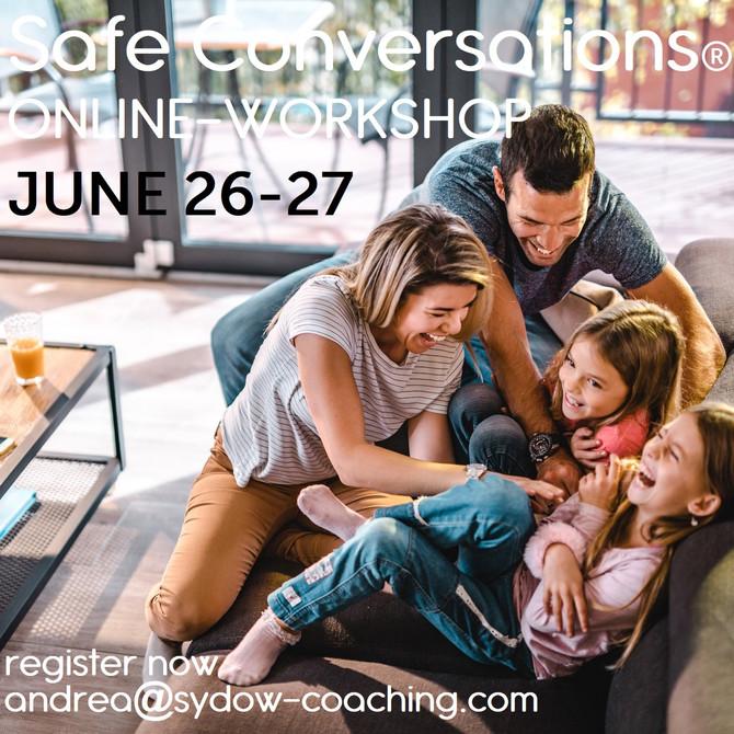 Komm zum Safe Conversations Workshop