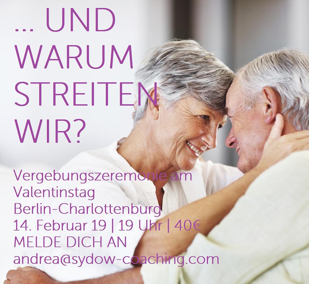 Vergebungszeremonie am Valentinstag in Berlin-Charlottenburg mit Andrea Sydow