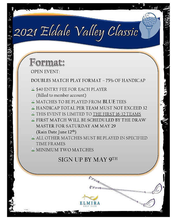 2021 Eldale Valley Matchplay poster-page