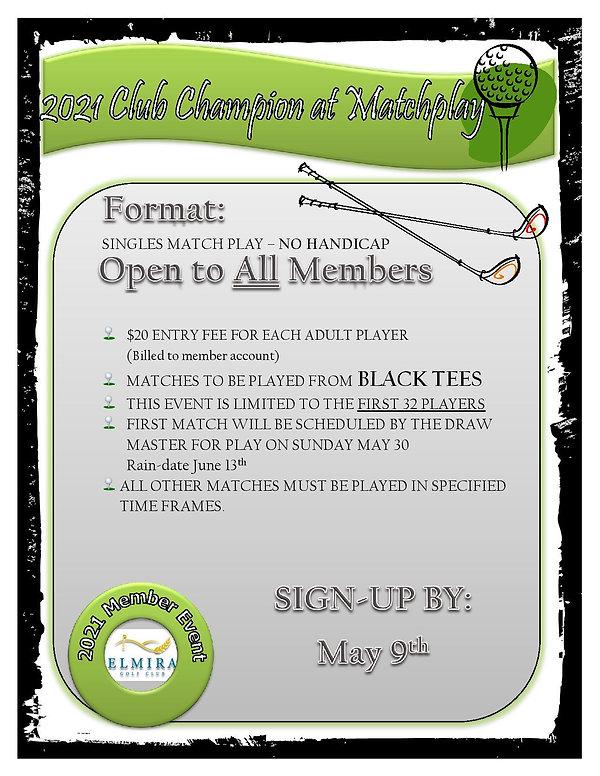 1. Open Championship Matchplay poster-pa