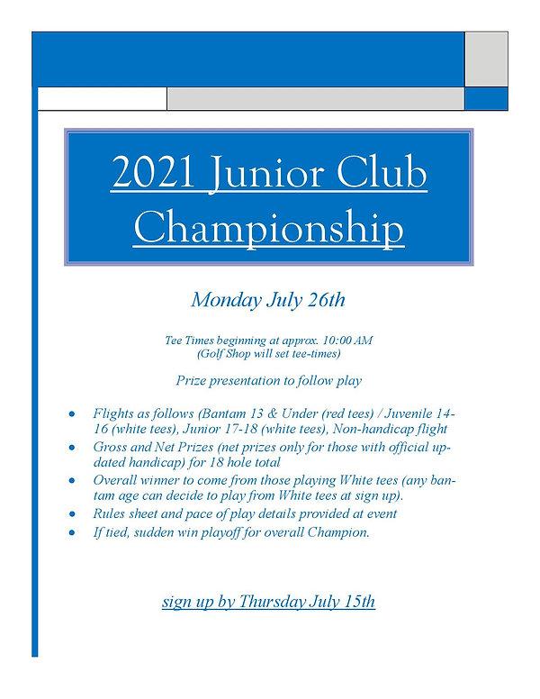 2021 Junior Club Championship Flyer-page